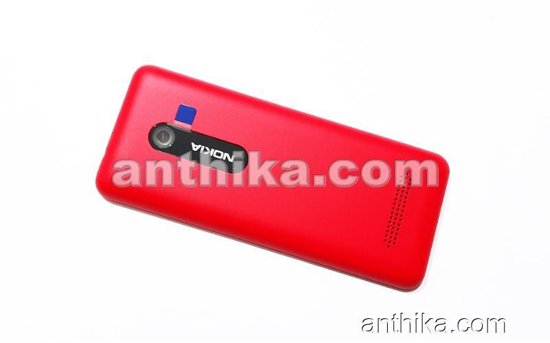 Nokia 206 Asha Kapak Original Battery Cover Red New 02501K2