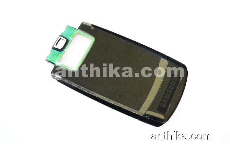 Samsung D830 Kapak Original Front Cover Black New