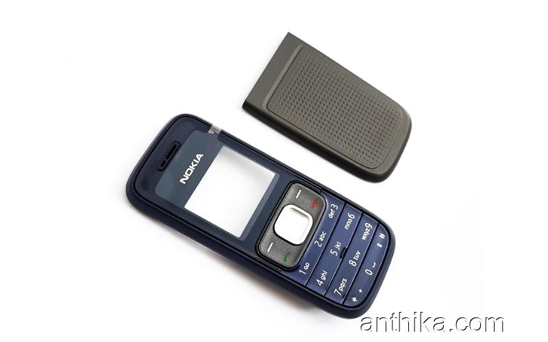Nokia 1209 Kapak Tuş Original Xpress on Cover Navy Blue New