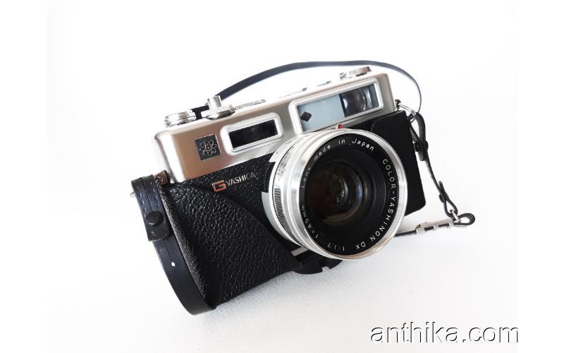 Antika Vintage Yashica Electro 35 Fotoğraf Makinesi Filmli