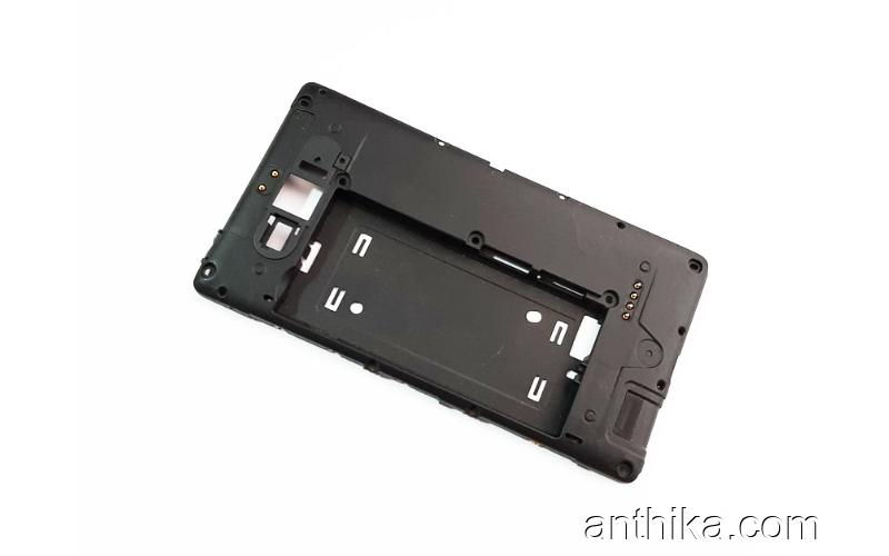Nokia 820 Lumia Kasa Buzzer Soket Original Middle Cover Black New