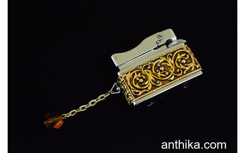 Antika Sarome Baby Gas Çakmak Old Vintage Gas Lighter