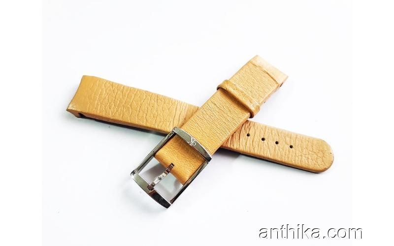 Calvin Klein Saat Kordonu Taba Deri Kayış Takozlu 18mm