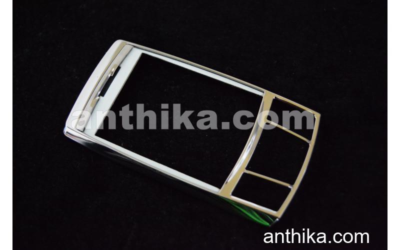 Samsung D840 Kapak Original Front Cover Silver New