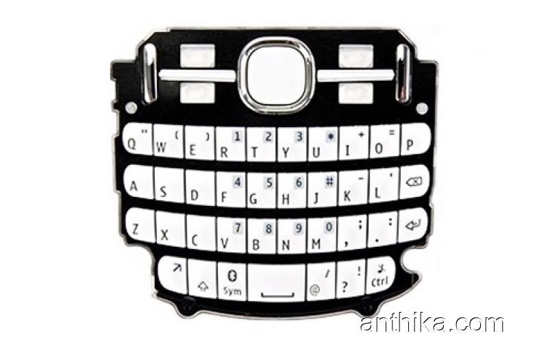 Nokia Asha 200 201 Tuş Original Keypad White New