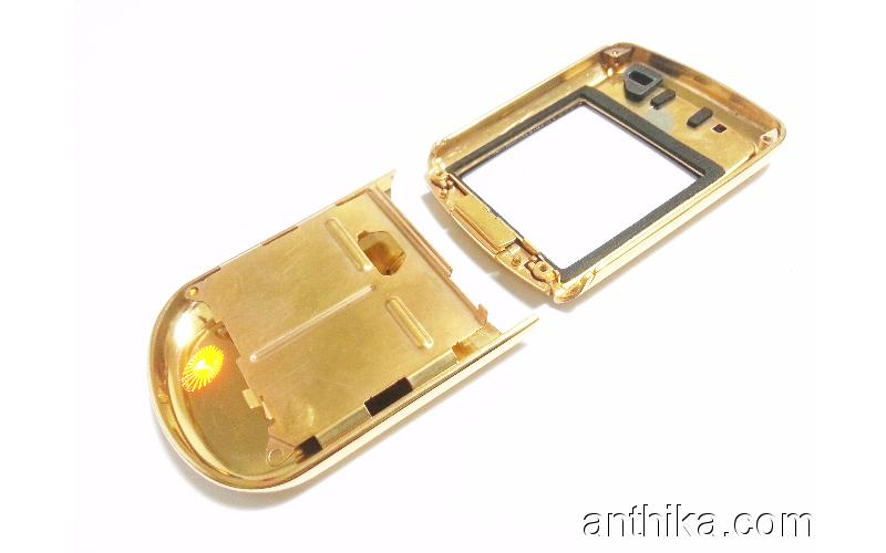Nokia 8800 Kapak Cam Lens Orjinal Front Cover Glass Gold New