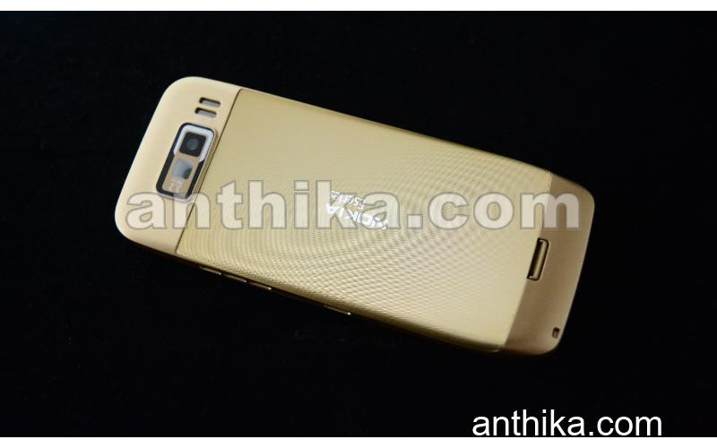 Nokia E55 Kapak Kasa Tuş High Quality Full Housing Gold Black New