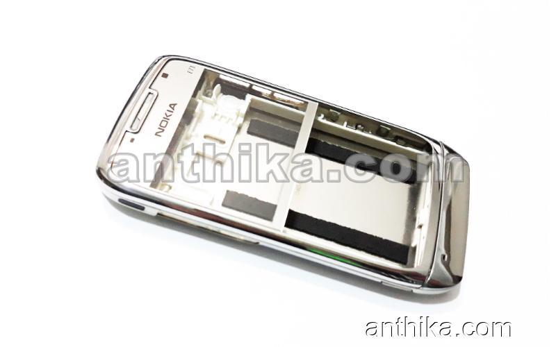 Nokia E71 Kapak Kasa Original Housing Silver White Used