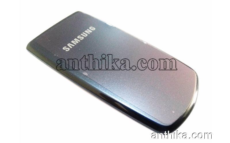 Samsung B310 Kapak Original Battery Cover Navy Blue New 585699
