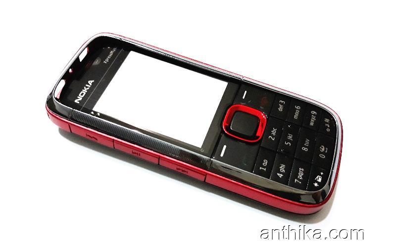 Nokia 5130 Kapak Kasa Tuş High Quality Full Housing Black Red New