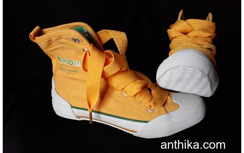 Barbour Converse Tarz Spor Casual Ayakkabı Sarı