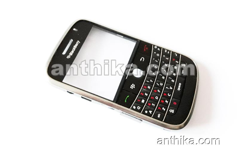 Blackberry 9000 Bold Kapak Tuş Original Front Cover and Keypad Black New