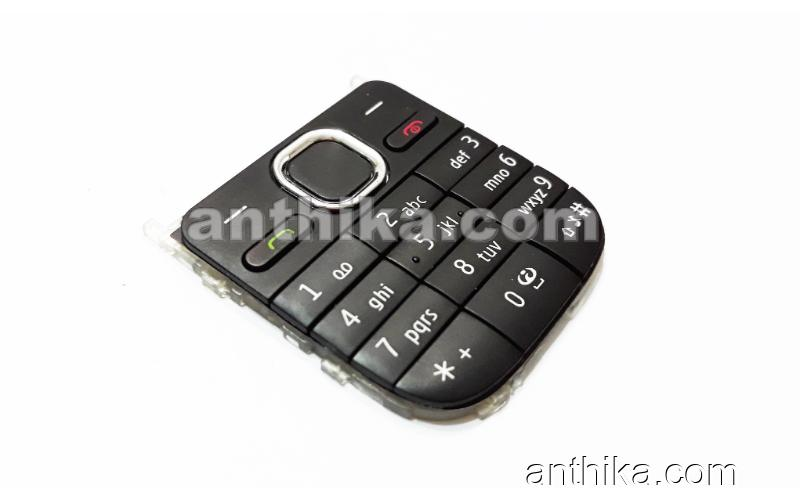 Nokia C2-01 Tuş Original Keypad Black New Condition