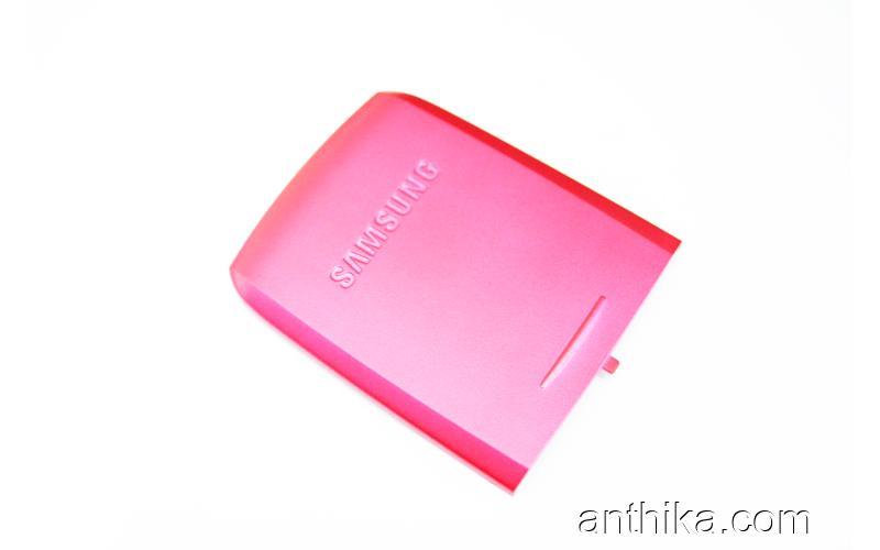 Samsung E250 Kapak Original Battery Cover Pink New