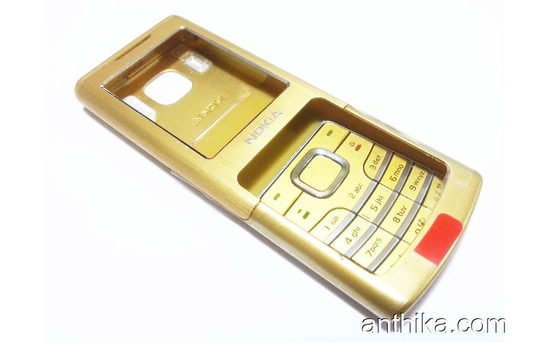 Nokia 6500 Classic Kapak Tuş A++Kalite Cover Gold New