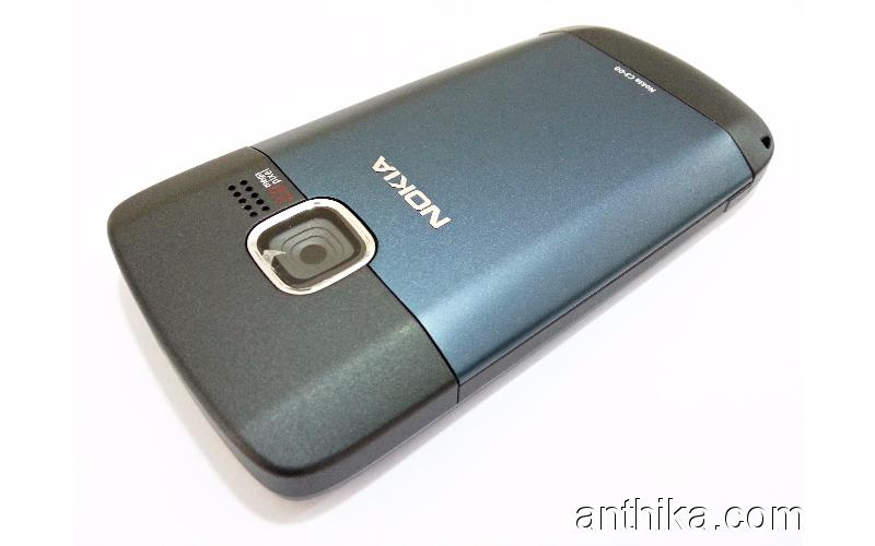Nokia C3 C3-00 Kapak Kasa Housing Navy Blue