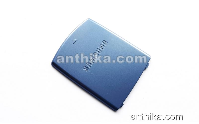 Samsung J700 SGH-J700 Kapak Orjinal PMO Battery Cover Blue New
