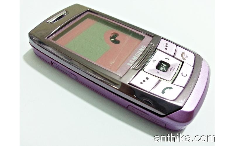 Samsung E250 E251 Kapak Kasa Tuş Original Full Housing Purple New