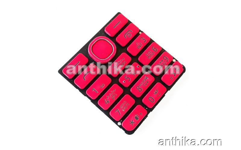 Nokia 206 Asha Tuş Original Arabic Keypad Pink Used
