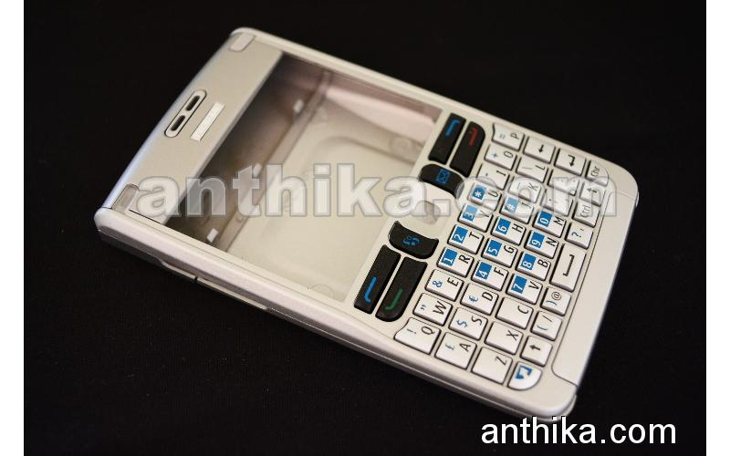 Nokia E61 Kapak Tuş Original Front And Battery Cover Keypad Silver New