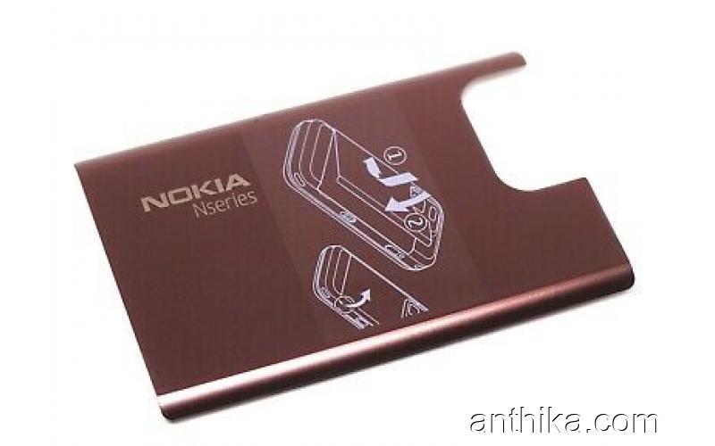 Nokia N97 Mini Kapak Original Battery Cover Brown New