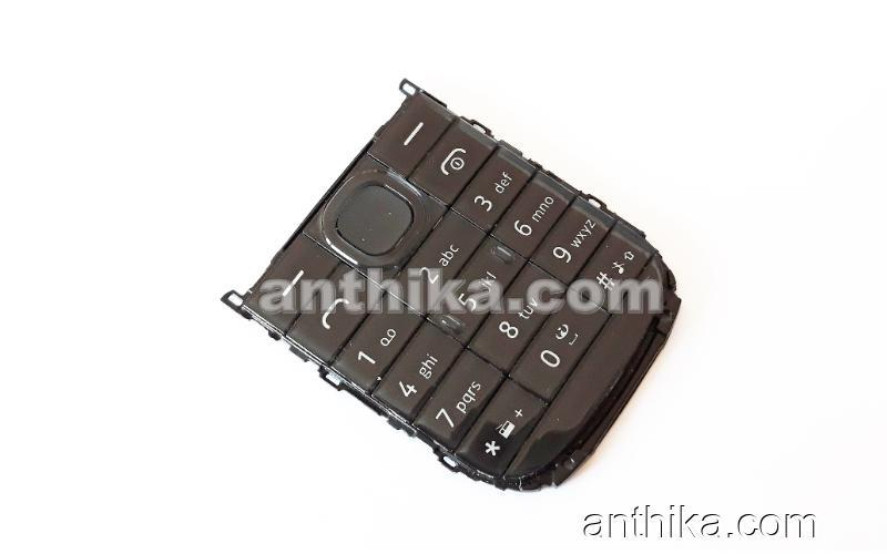 Nokia 109 Dual Sim Tuş Original Keypad Black New