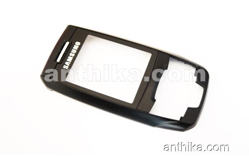 Samsung E390 Kapak Original Front Cover Black New Condition