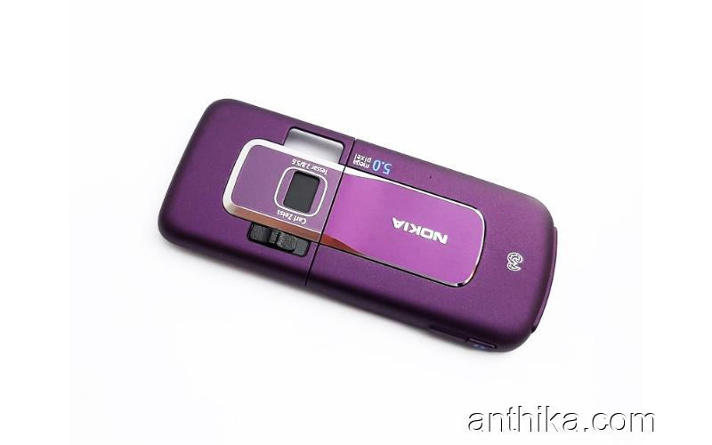 Nokia 6220 Classic Kasa Kapak Original Middle Cover and Battery Cover Purple